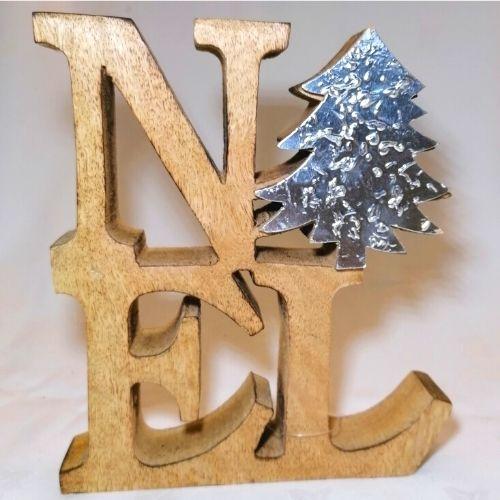 Noel Wooden Ornament