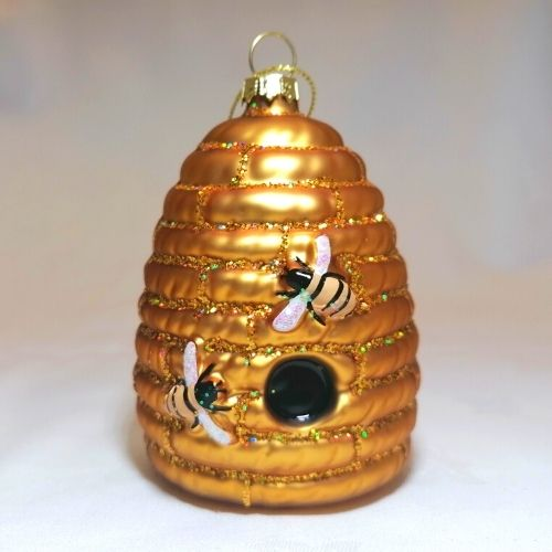 Beehive Glass Bauble