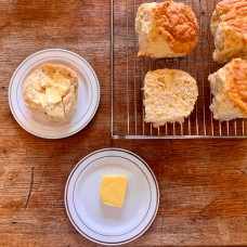 Four Homemade Cheese Scones