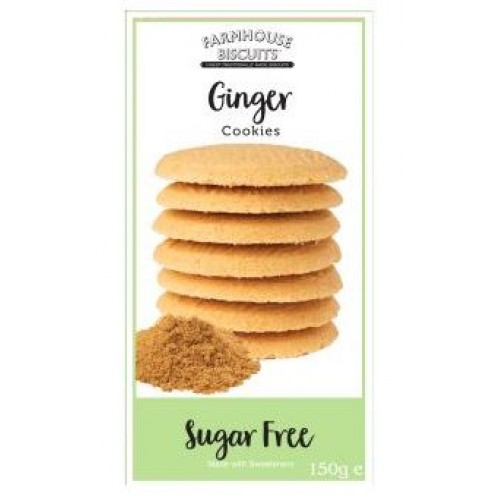 Sugar Free Farmhouse Ginger Cookies